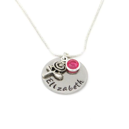 Personalised Rose Pendant Necklace with Birthstone Charm – Gift Boxed & Free Delivery UK